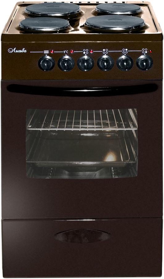 Электрическая плита ЛЫСЬВА ЭП 403 МС,  эмаль,  без крышки,  коричневый