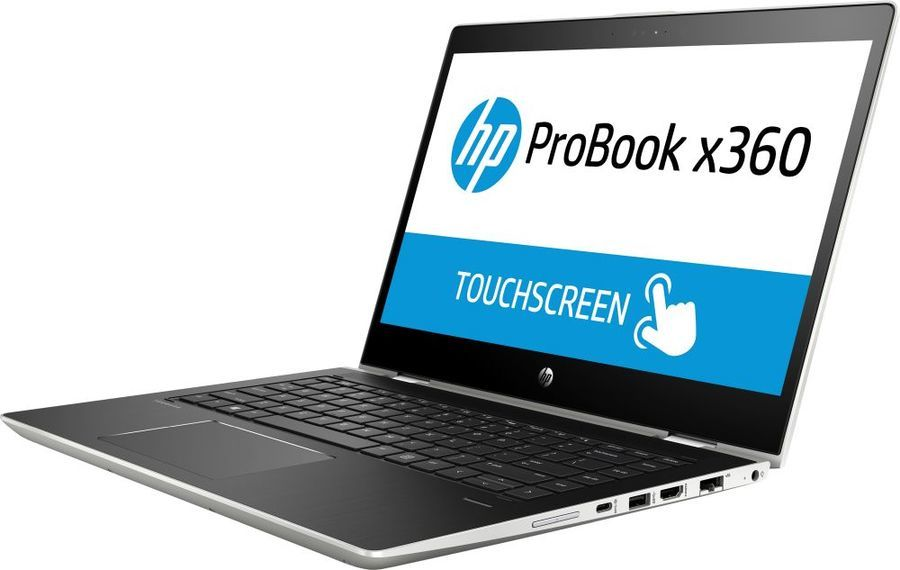 "Ноутбук-трансформер HP ProBook x360 440 G1, 14"",  Intel  Core i3  8130U 2.2ГГц, 4Гб, 128Гб SSD,  Intel UHD Graphics  620, Windows 10 Professional, 4LT32EA,  серебристый"