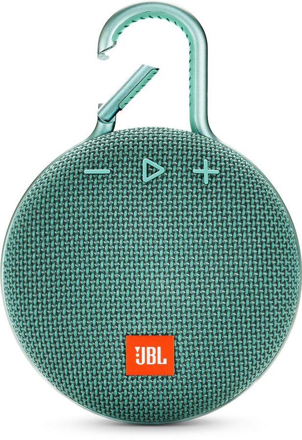 Портативная колонка JBL Clip 3,  3.3Вт, светло-зеленый  [jblclip3teal]