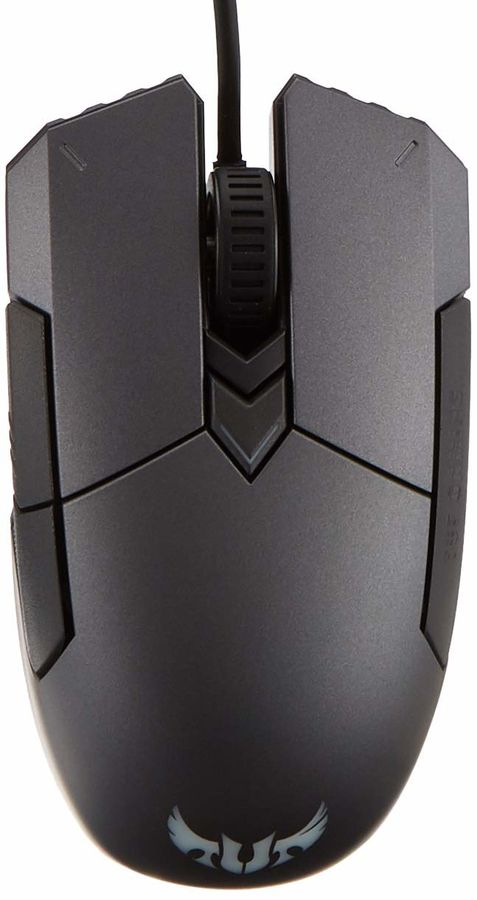 Мышь ASUS TUF Gaming M5, игровая, оптическая, проводная, USB, черный и серый [90mp0140-b0ua00]