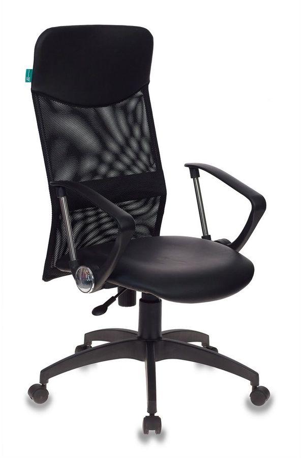 Кресло руководителя БЮРОКРАТ СН-600AXSN, на колесиках, искусственная кожа, черный [сн-600axsn/or-16]