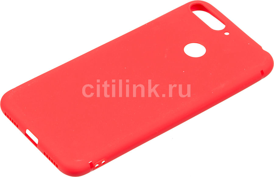 Чехол (клип-кейс) BORASCO Mate, для Huawei Honor 7A Pro/Y6 Prime (2018)/7C, красный [34873]