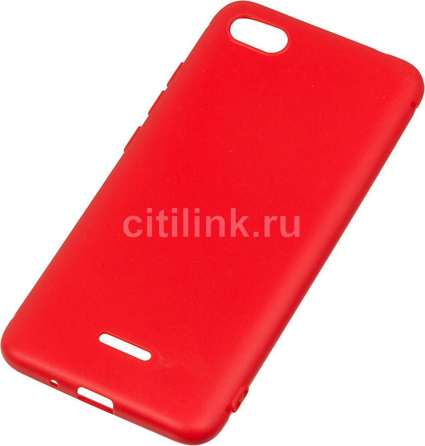 Чехол (клип-кейс)  BoraSco Mate, для Xiaomi Redmi 6A, красный [34877]