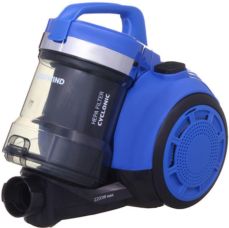 Пылесос STARWIND SCV2220, 2200Вт, синий/черный
