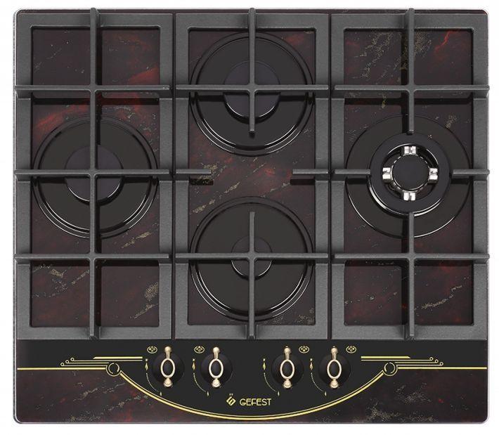 Варочная панель GEFEST ПВГ 2231-01 К55,  независимая,  рубиновый