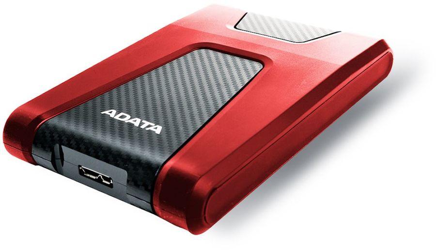 Внешний жесткий диск A-DATA DashDrive Durable HD650, 1Тб, красный [ahd650-1tu31-crd]