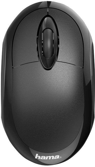 Мышь HAMA MC-100, оптическая, проводная, USB, черный [00182600]
