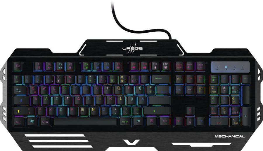 Клавиатура HAMA uRage,  USB, c подставкой для запястий, черный [r1113767]