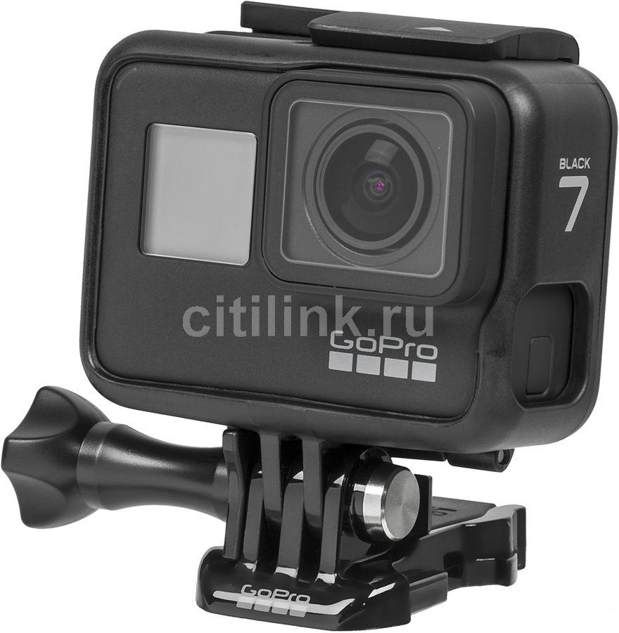 Экшн-камера GOPRO HERO7 Black Edition 4K,  WiFi,  черный [chdhx-701-rw]