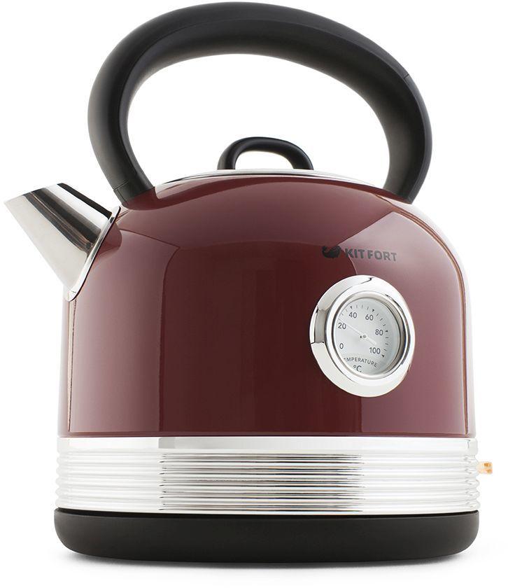 Чайник электрический KITFORT КТ-634-2, 2150Вт, красный
