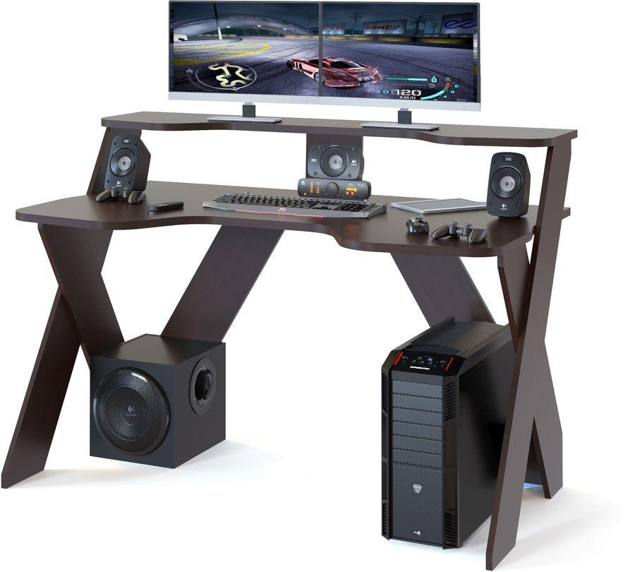 Стол игровой  СОКОЛ КСТ-117,  ЛДСП,  венге