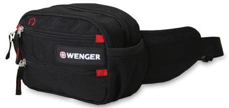 Сумка поясная Wenger черный/красный 18282167 23x9x7см