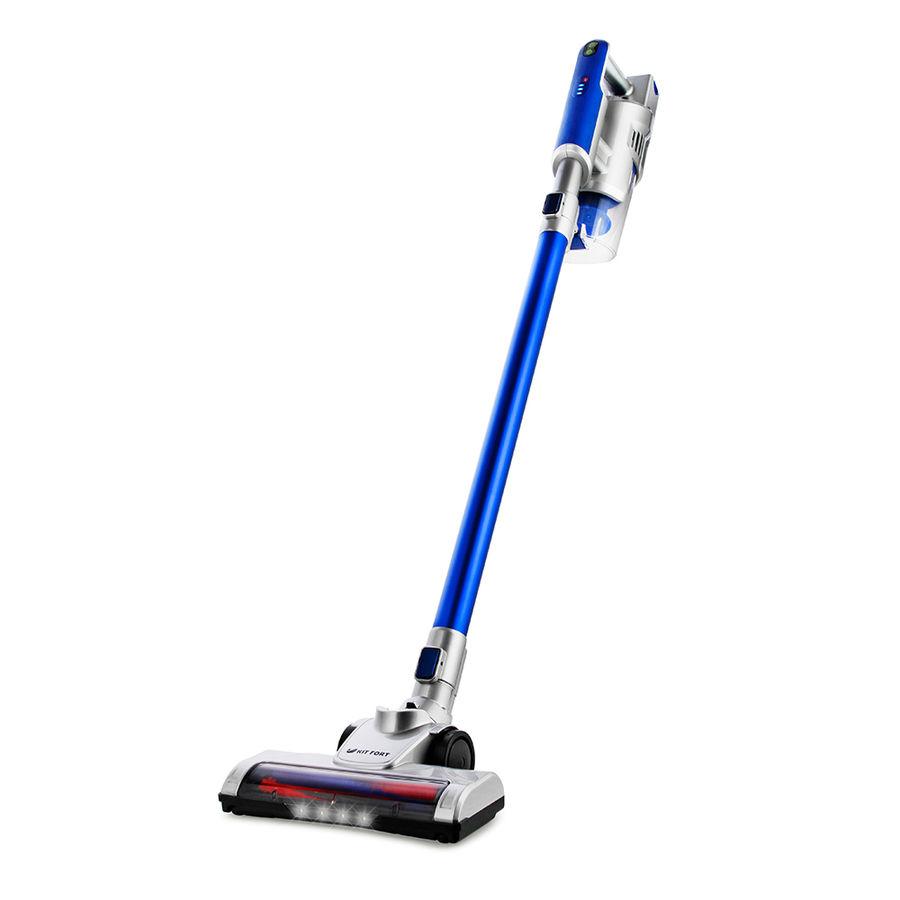 Ручной пылесос (handstick) KITFORT КТ-536-3, 120Вт, серебристый/синий