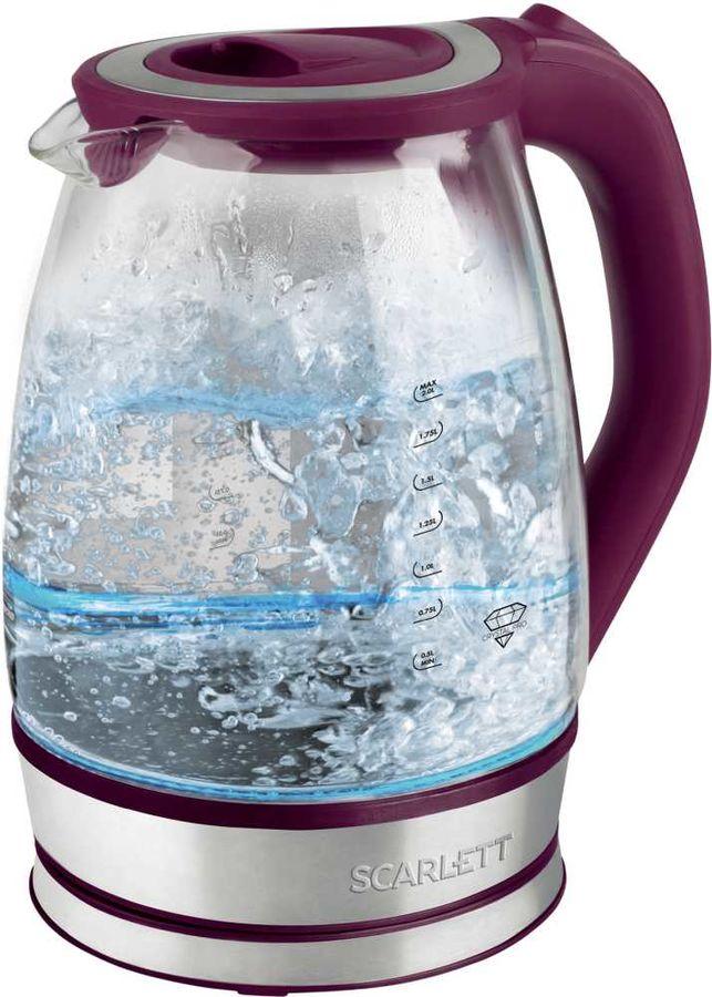 Чайник электрический SCARLETT SC-EK27G45, 2200Вт, сливовый
