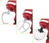 Миксер KITFORT КТ-1337-1, с чашей,  красный и серебристый вид 4