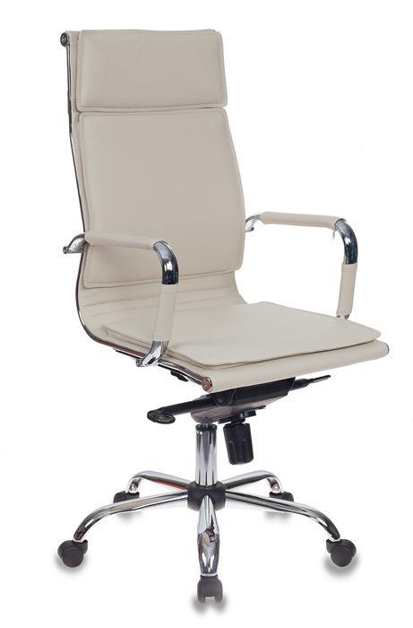 Кресло руководителя БЮРОКРАТ CH-993MB, на колесиках, искусственная кожа [ch-993mb/ivory]