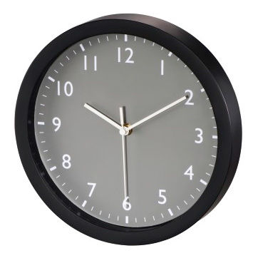 Настенные часы HAMA Pure, аналоговые,  серый