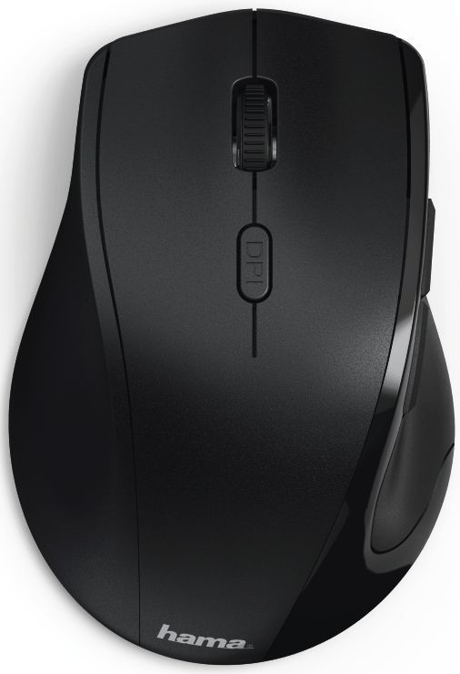 Мышь HAMA Riano, оптическая, беспроводная, USB, черный [00182645]