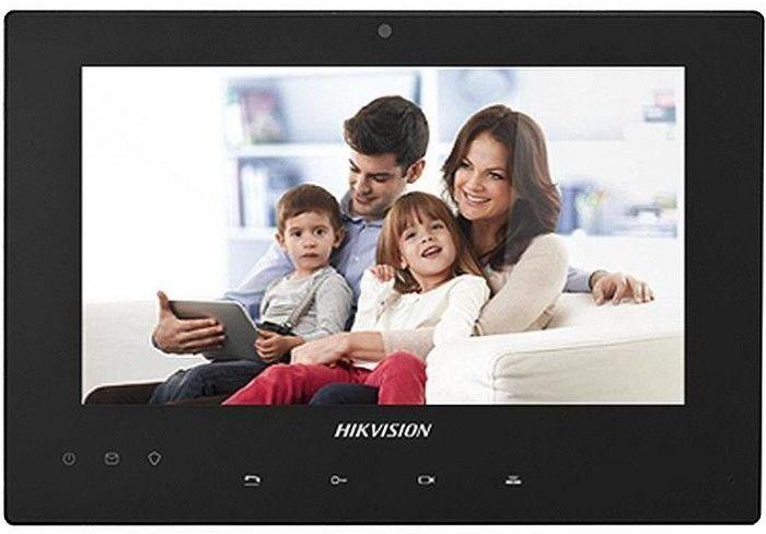 Видеопанель HIKVISION DS-KH8340-TCE2,  цветная,  накладная,  черный