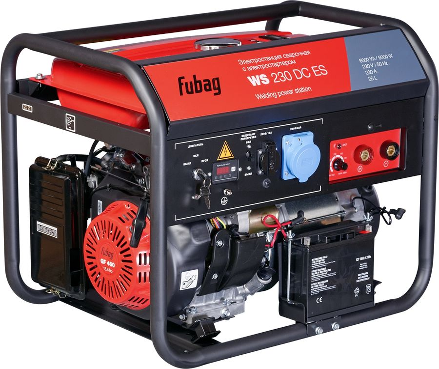 Бензиновый генератор FUBAG WS 230 DC ES,  220 В,  5кВт [838237]