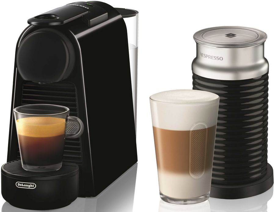 Капсульная кофеварка DELONGHI Nespresso Essenza mini Bundle EN85.BAE, 1260Вт, цвет: черный [0132191769]