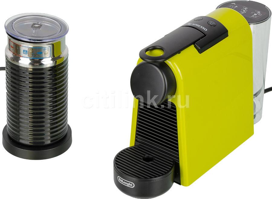 Капсульная кофеварка DELONGHI Nespresso Essenza mini Bundle EN85.BAE, 1260Вт, цвет: зеленый [132191668]