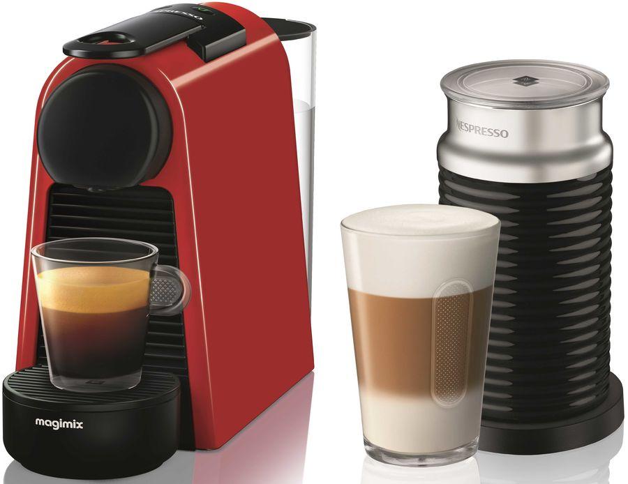 Капсульная кофеварка DELONGHI Nespresso Essenza mini Bundle EN85.BAE, 1260Вт, цвет: красный [132191664]