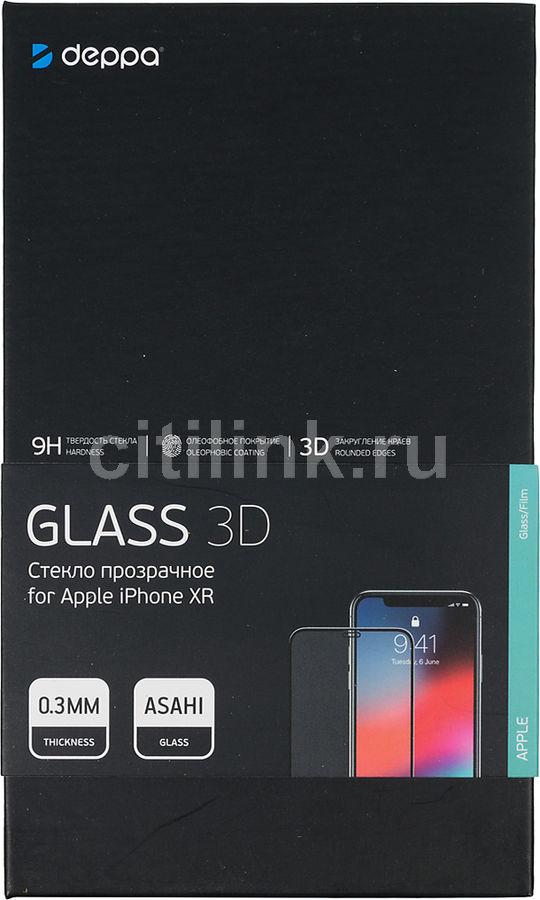 Защитное стекло для экрана DEPPA 62445  для Apple iPhone XR/11,  3D, 1 шт, черный