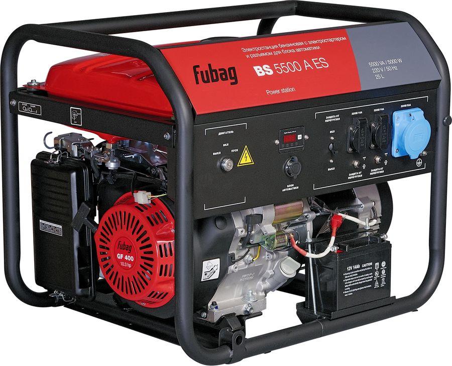 Бензиновый генератор FUBAG BS 5500 AES,  220 В,  4.4кВт [838756]