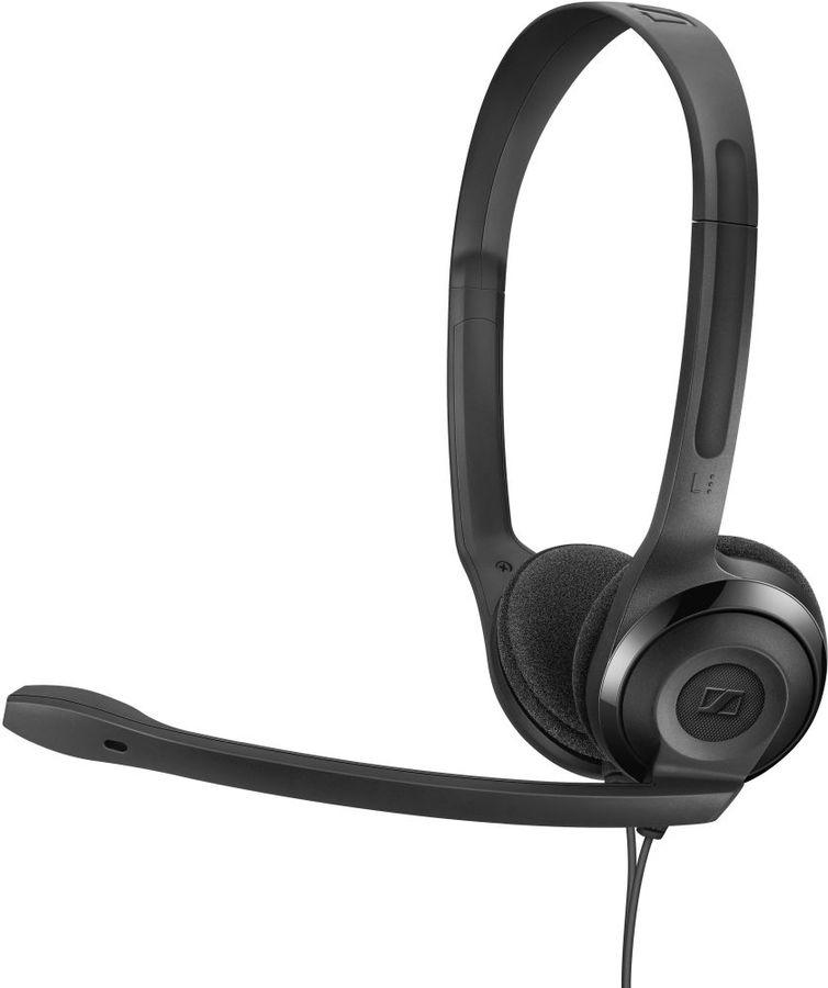 Гарнитура SENNHEISER PC 5 CHAT,  для контактных центров, накладные,  черный  [508328]