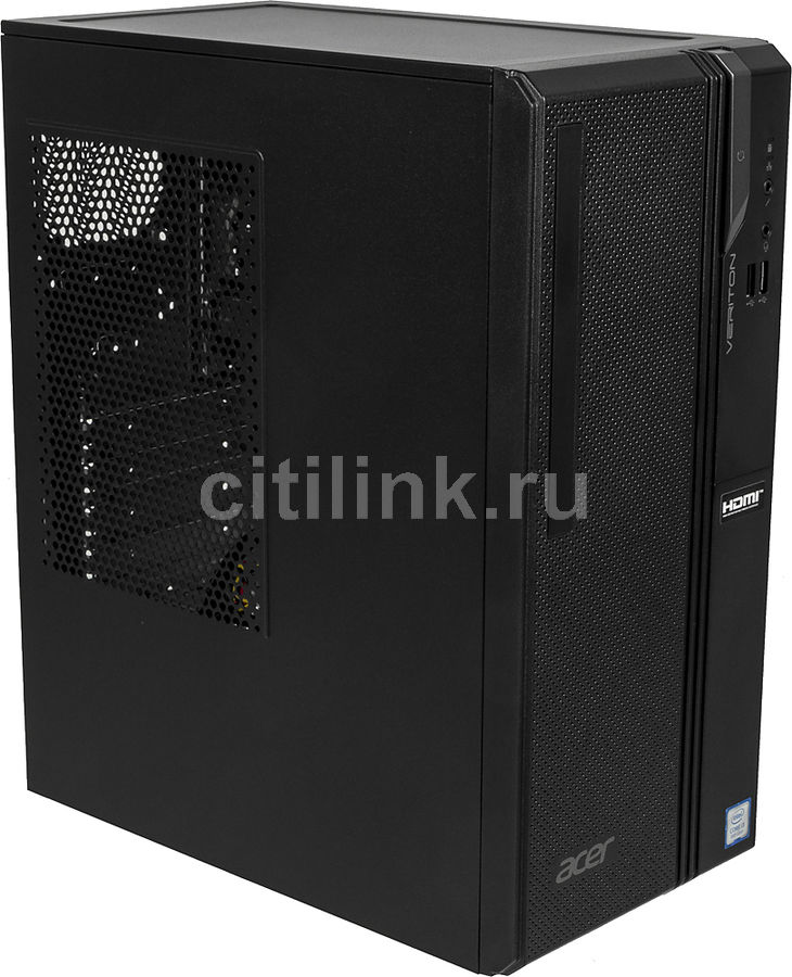Компьютер  ACER Veriton ES2730G,  Intel  Core i3  8100,  DDR4 4Гб, 1000Гб,  Intel UHD Graphics 630,  Endless,  черный [dt.vs2er.005]