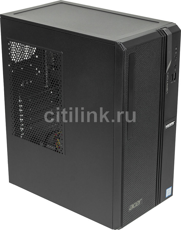 Компьютер  ACER Veriton ES2730G,  Intel  Core i3  8100,  DDR4 4Гб, 1000Гб,  Intel UHD Graphics 630,  Windows 10 Professional,  черный [dt.vs2er.007]