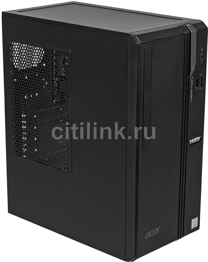 Компьютер  ACER Veriton ES2730G,  Intel  Core i3  8100,  DDR4 8Гб, 256Гб(SSD),  Intel UHD Graphics 630,  Windows 10 Home,  черный [dt.vs2er.021]