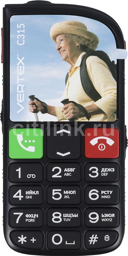Мобильный телефон VERTEX C315 черный