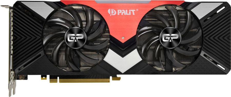 Видеокарта PALIT nVidia  GeForce RTX 2080 ,  PA-RTX2080 Dual 8G,  8Гб, GDDR6, Ret [ne62080020p2-180a]