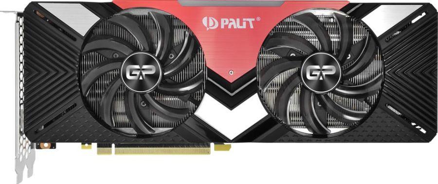 Видеокарта PALIT nVidia  GeForce RTX 2070 ,  PA-RTX2070 DUAL 8G,  8Гб, GDDR6, Ret [ne62070020p2-1060a]