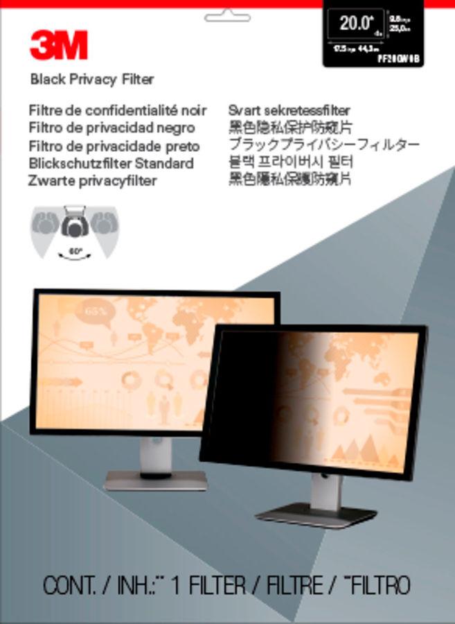 """Пленка защиты информации 3M PF200W9B для монитора 20"""", 16:9, черный [7000021449]"""