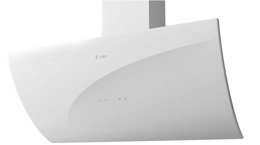 Вытяжка каминная Lex Plaza 900 WH белый управление: сенсорное (1 мотор)