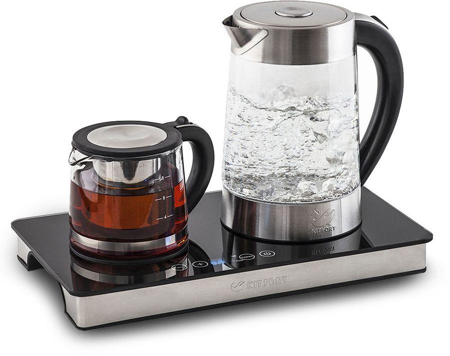 Чайный набор KITFORT КТ-635, 2200Вт, черный