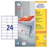 Этикетки Avery Zweckform 3422 A4 70x35мм 24шт на листе/70г/м2/100л./белый матовое самоклей. универса вид 1