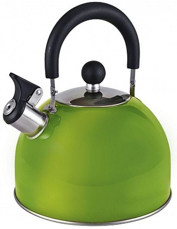 Металлический чайник ENDEVER 303,  3л,  зеленый [80479]