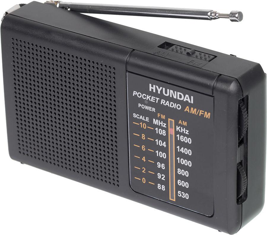 Радиоприемник HYUNDAI H-PSR130,  черный