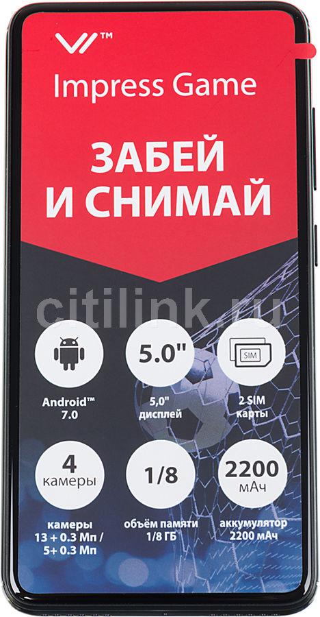 Смартфон VERTEX Impress Game черный