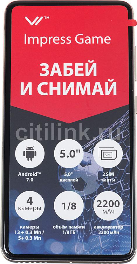 Смартфон VERTEX Impress Game золотистый