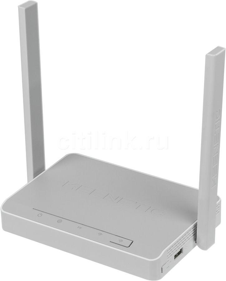 Беспроводной роутер KEENETIC DSL,  ADSL 2/2+,  белый [kn-2010]