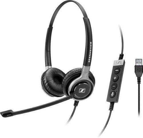 Гарнитура SENNHEISER SC 660 USB ML,  для контактных центров, накладные,  черный  [504553]