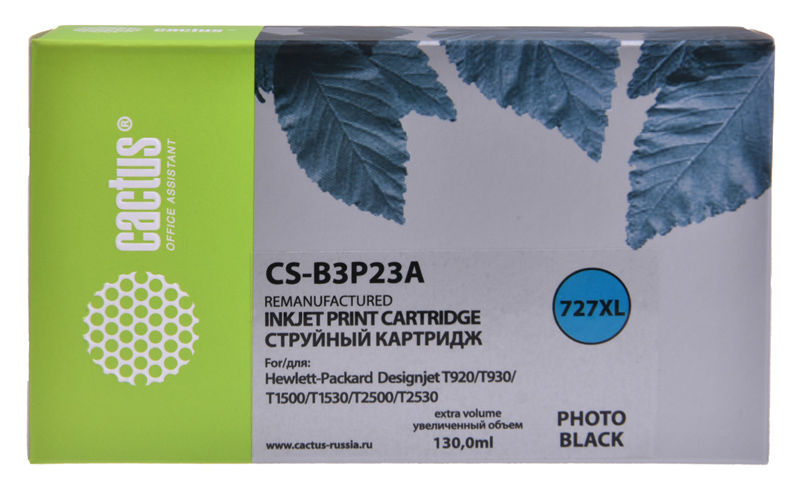 Картридж CACTUS №727, фото черный [cs-b3p23a]