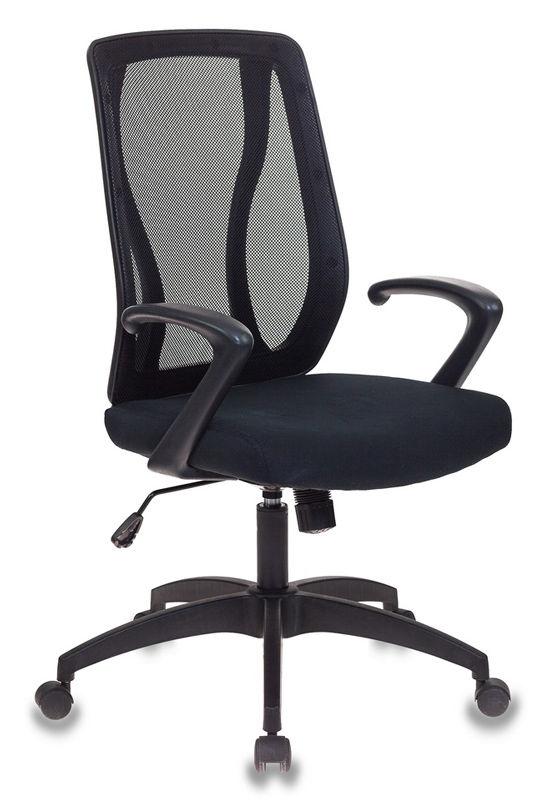 Кресло БЮРОКРАТ MC-411, на колесиках, сетка/ткань [mc-411/26-28]