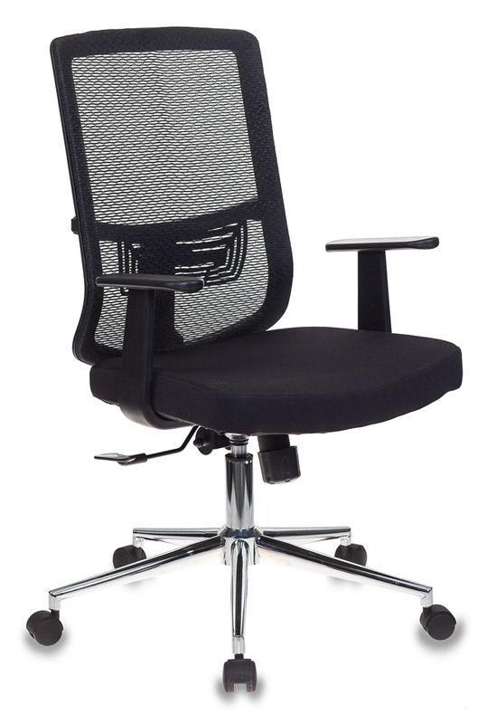 Кресло БЮРОКРАТ MC-612, на колесиках, сетка/ткань, черный [mc-612/b/26-b01]