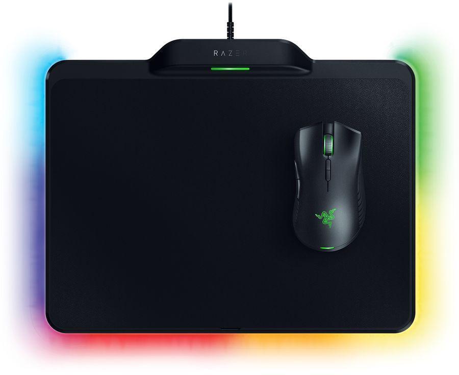Мышь RAZER Mamba + Firefly Hyperflux, игровая, оптическая, проводная, USB, черный [rz83-02480100-b3m1]